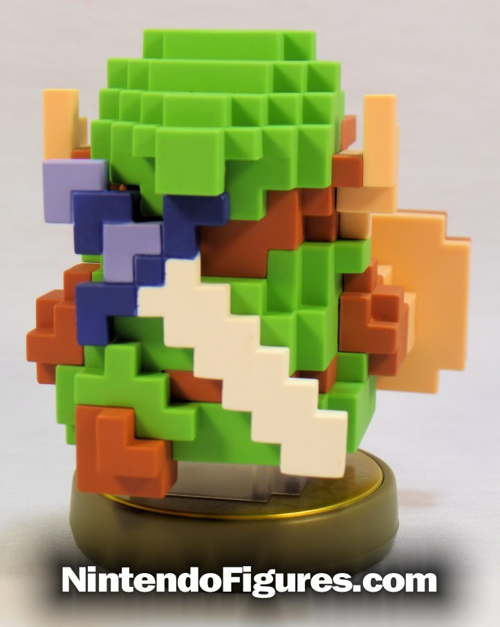8-bit retro link amiibo legend of zelda back