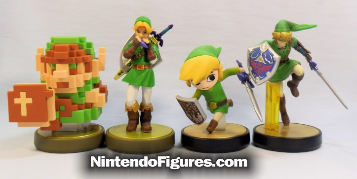 legend of zelda 8-bit amiibo comparison