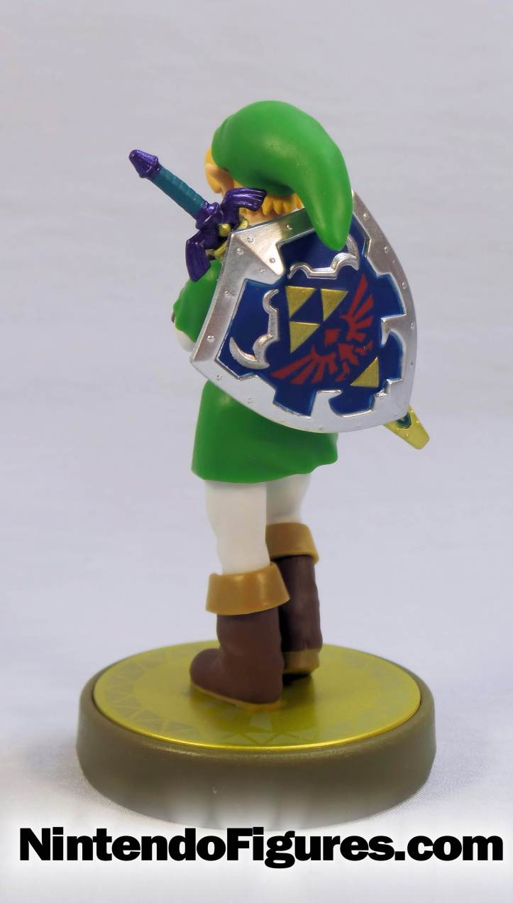 link ocarina of time amiibo back