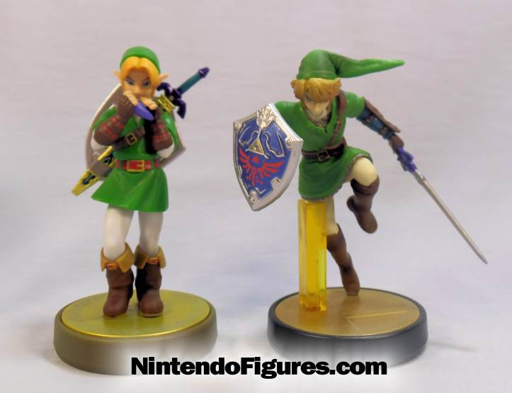 link ocarina of time-amiibo comparison
