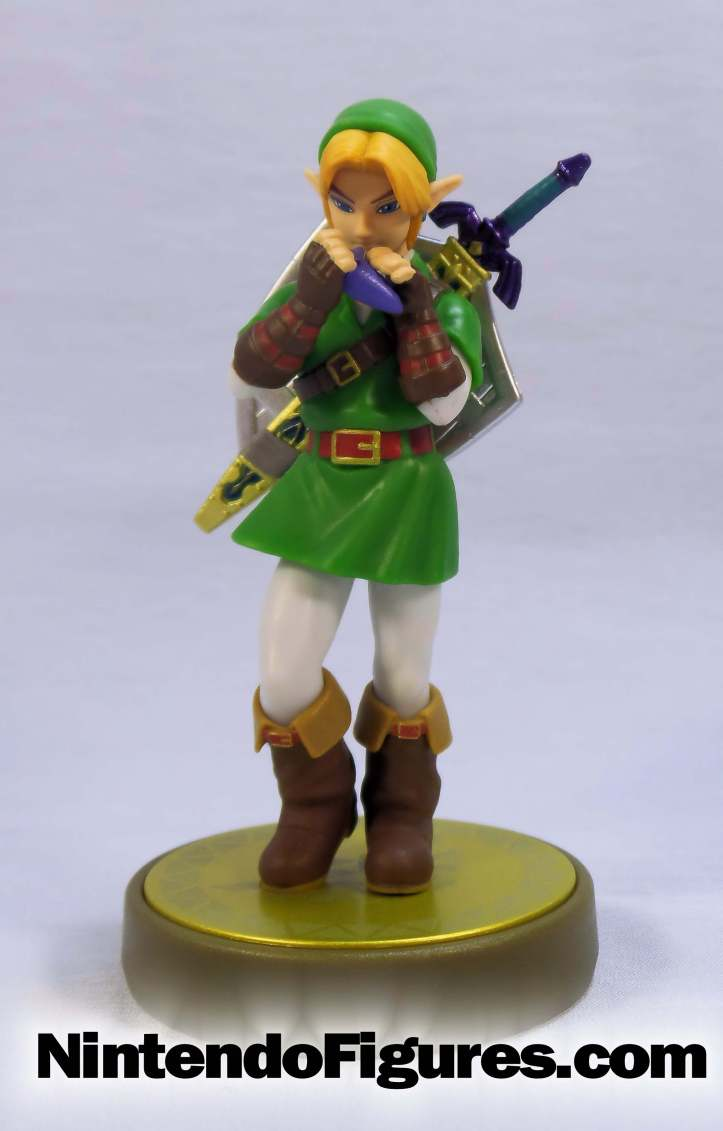 link ocarina of time amiibo front