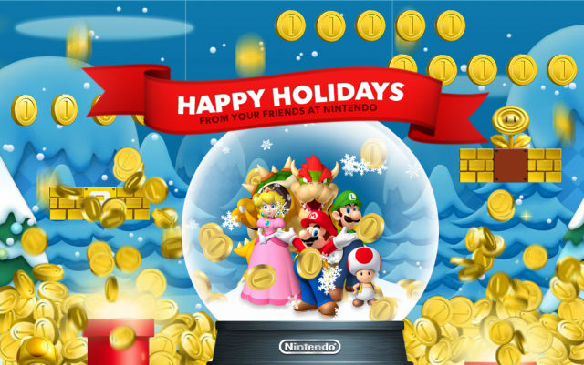 super mario nintendo christmas happy holidays