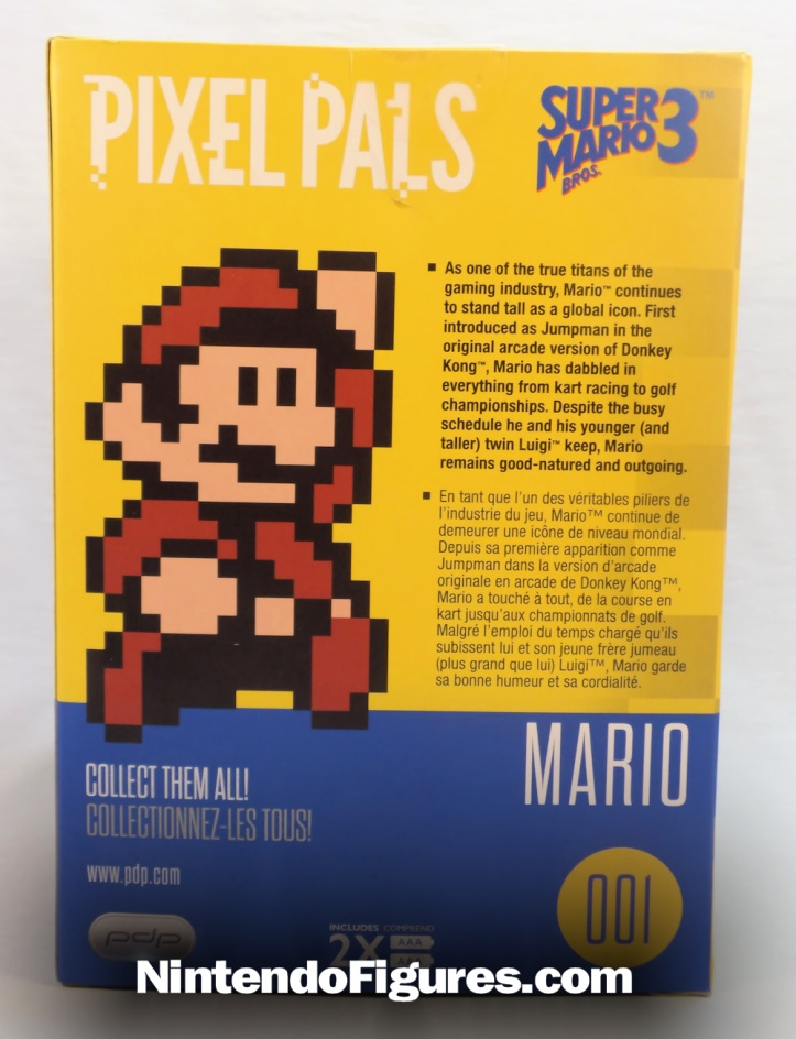 super mario 3 pixel pals box back