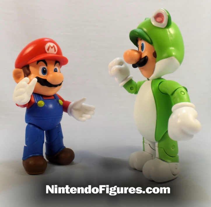 world of nintendo waving mario and cat luigi