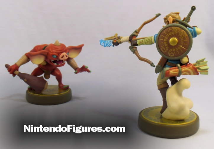 Bokoblin and Archer Link Zelda Breath of the Wild Amiibo