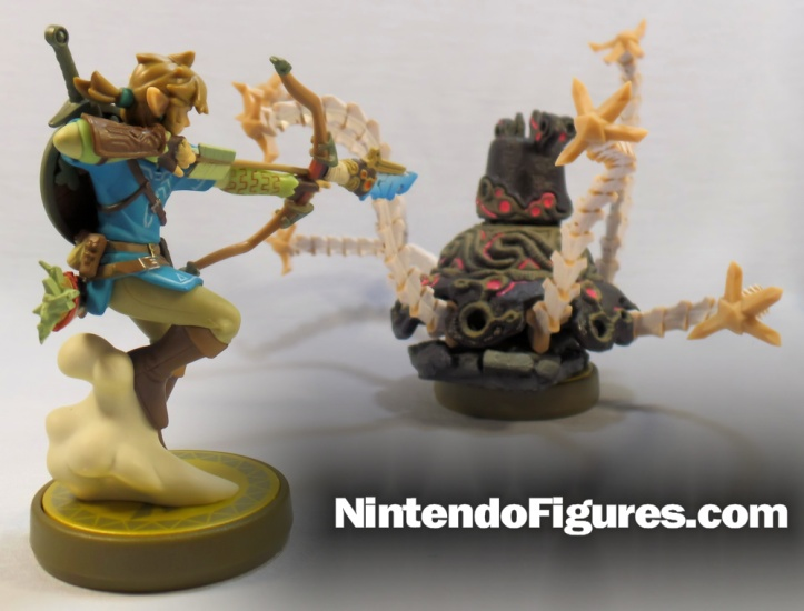 Guardian Zelda Breath of the Wild Amiibo Versus Link
