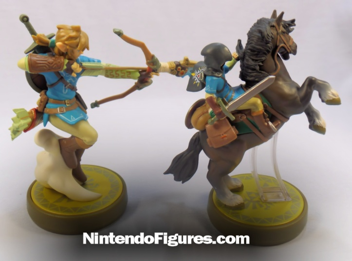 Link Rider Legend of Zelda Breath of the Wild Amiibo Comparison
