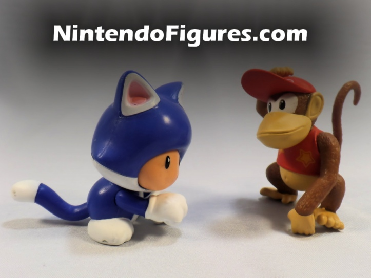 "Cat Toad World of Nintendo 2.5"" Inch Figure with Diddy Kong"