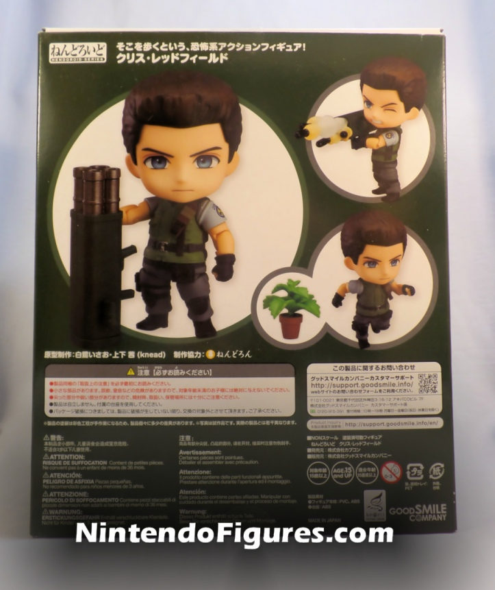 Chris Redfield Nendoroid Box Back