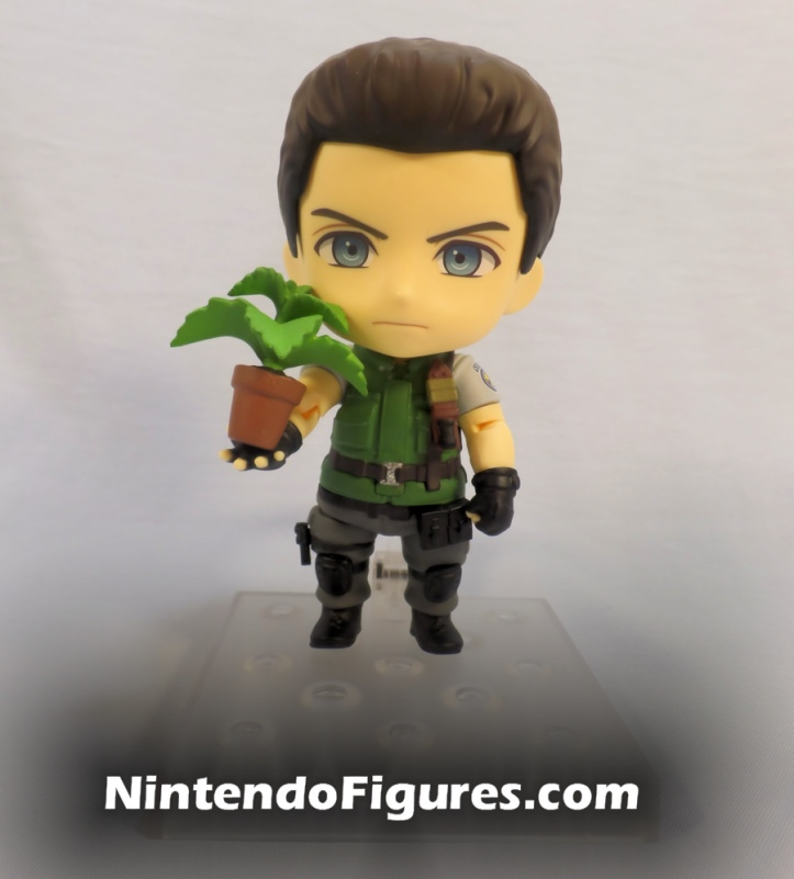 Chris Redfield Nendoroid with Green Herb