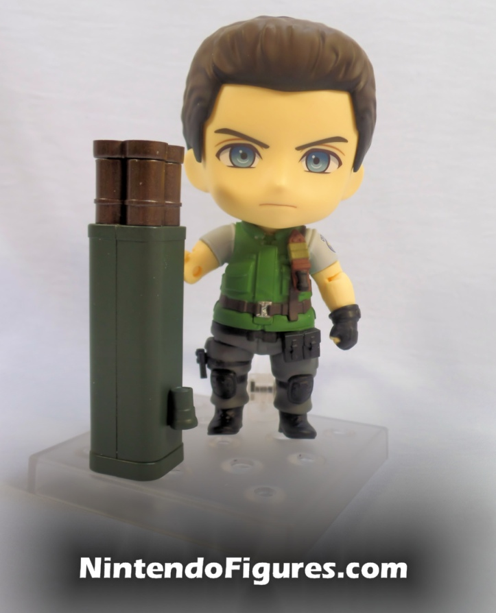 Chris Redfield Nendoroid holding Rocket Launcher