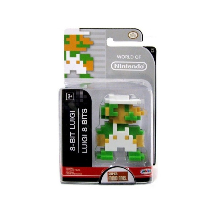 8-bit Luigi World of Nintendo 2.5 Inch Figure