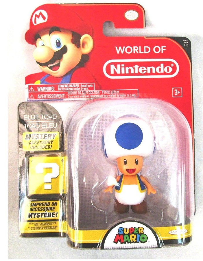 Blue Toad 4 Inch World of Nintendo Figure