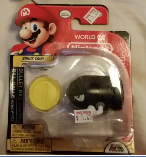 Bullet Bill World of Nintendo 2.5 Inch Figure Family Dollar