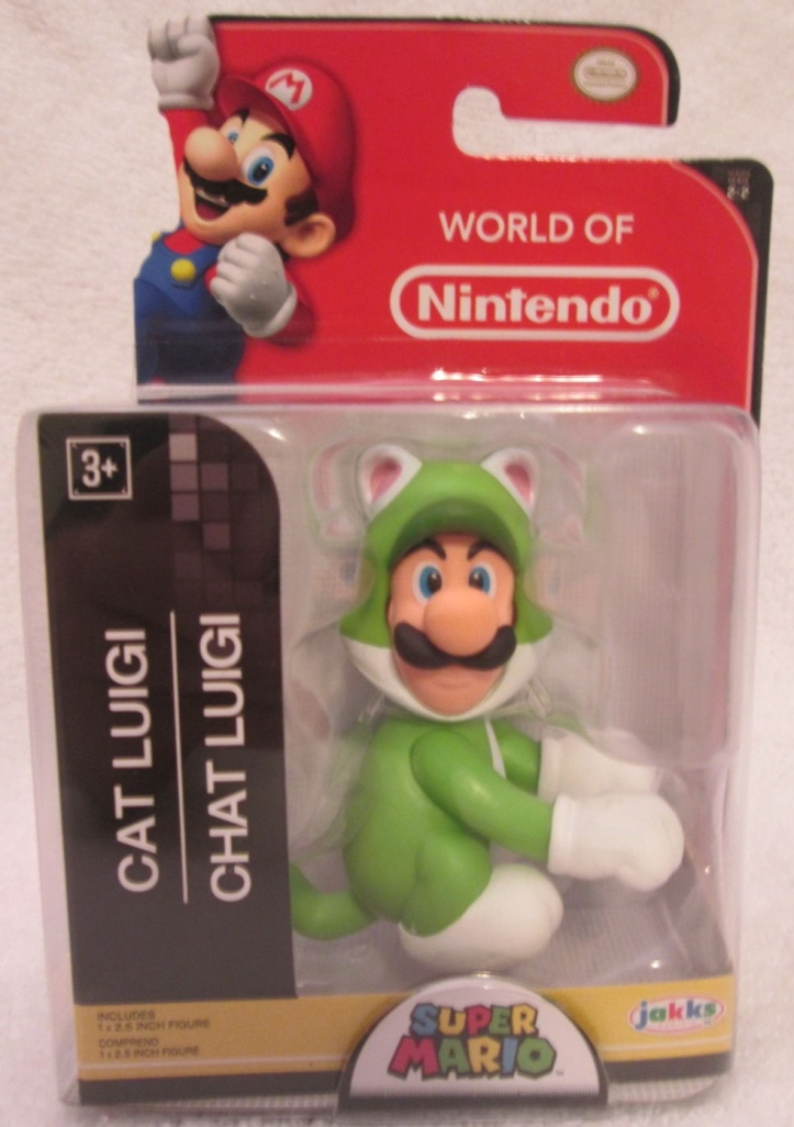 Cat Luigi World of Nintendo 2.5 Inch Figure