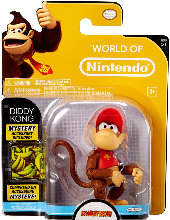 Diddy Kong 4 Inch World of Nintendo Figure