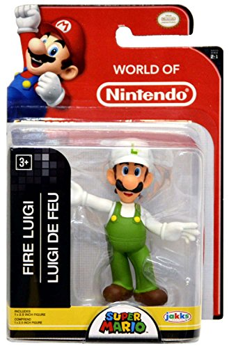 Fire Luigi World of Nintendo 2.5 Inch Figure