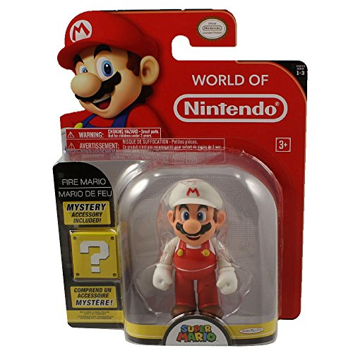 Fire Mario 4 Inch World of Nintendo Figure