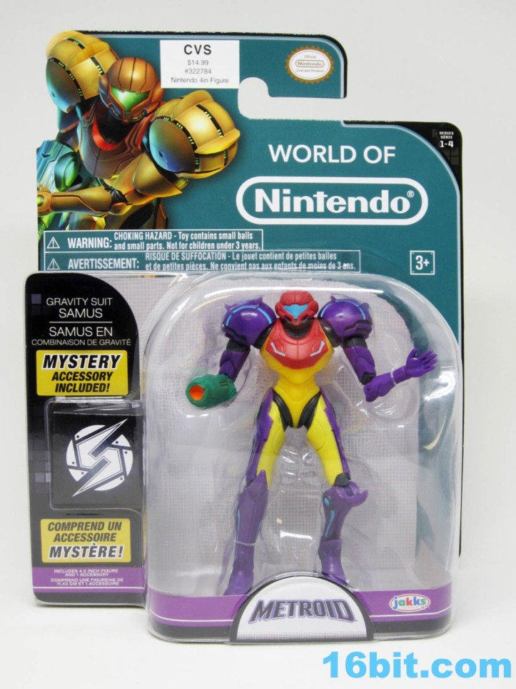 Gravity Suit Samus 4 Inch World of Nintendo Figure