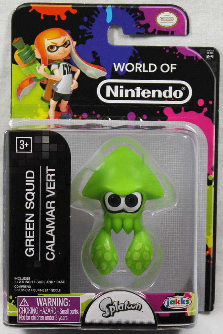 Green Squid World of Nintendo 2.5 Inch Figure