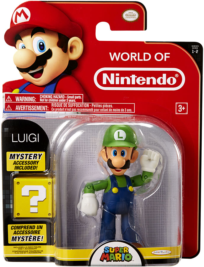 Luigi 4 Inch World of Nintendo Figure