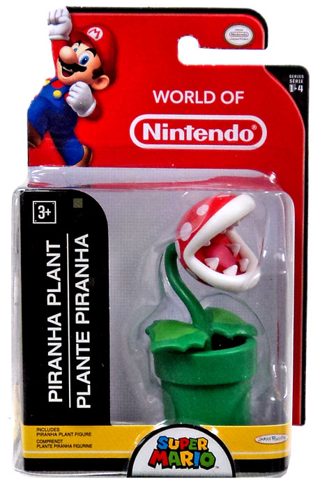 Piranha Plant with Green Pipe World of Nintendo 2.5 Inch Figure