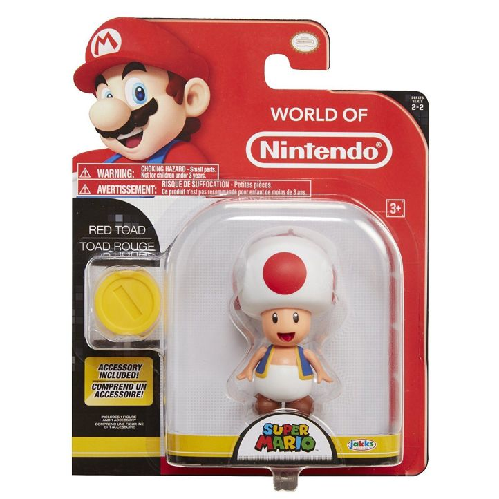 Red Toad World of Nintendo 4 Inch Figure