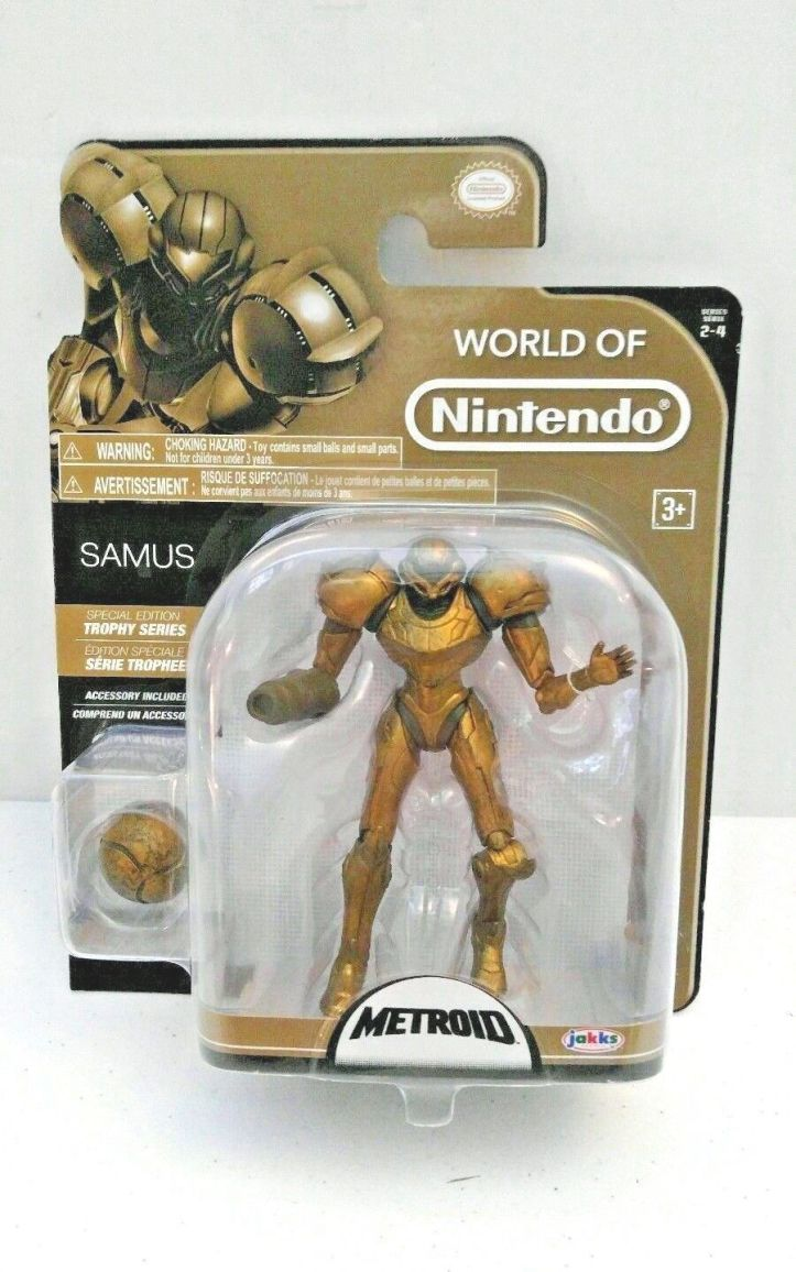 Samus World of Nintendo 4 Inch Trophy Series