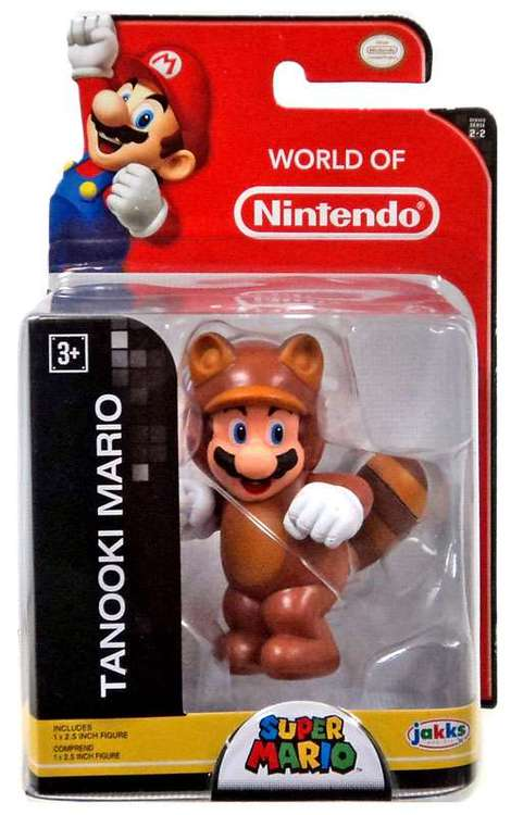 Tanooki Mario World of Nintendo 2.5 Inch Figure