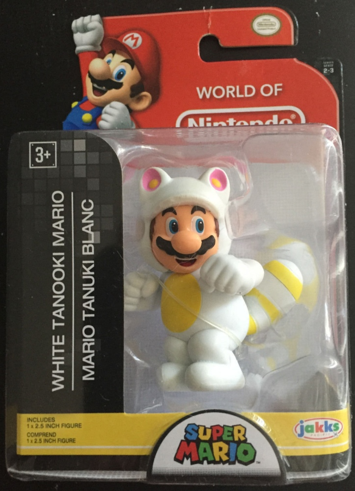White Tanooki Mario World of Nintendo 2.5 Inch Figure