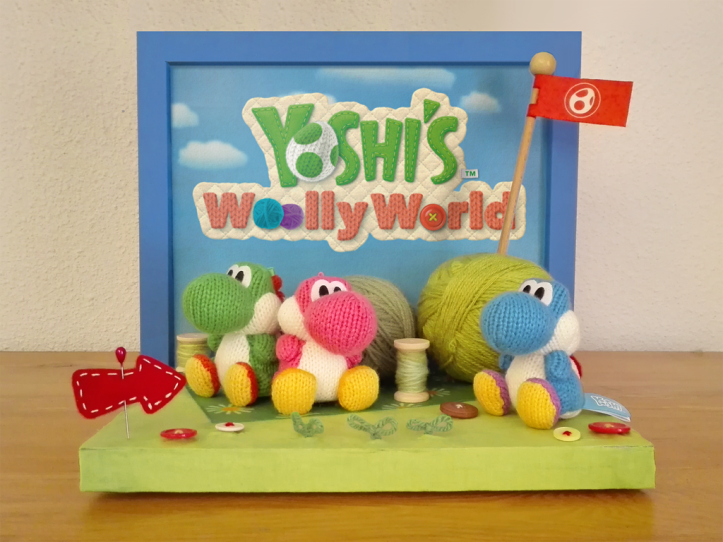 Yoshi's Woolly World Amiibo Display Stand