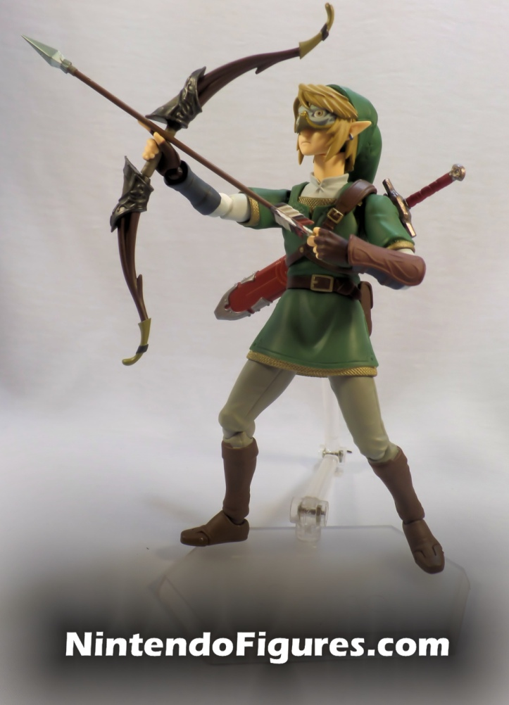 Link Twilight Princess Figma DX Hawkeye Bow and Arrow Pose 2