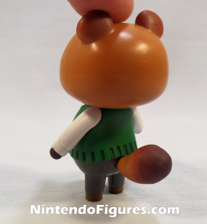 "Tom Nook World of Nintendo 2.5"" Inch Figure Back"