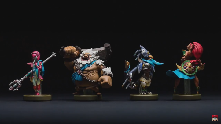 zelda breath of the wild champions amiibo Mipha Daruk, Revali, Urbosa