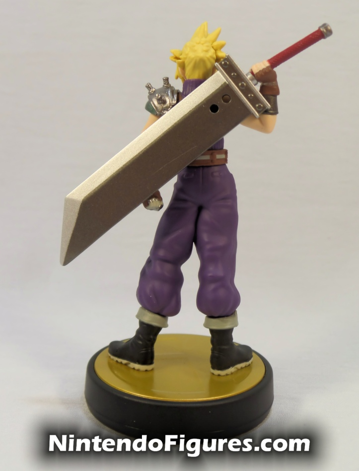 Cloud Strife Super Smash Bros Amiibo Back