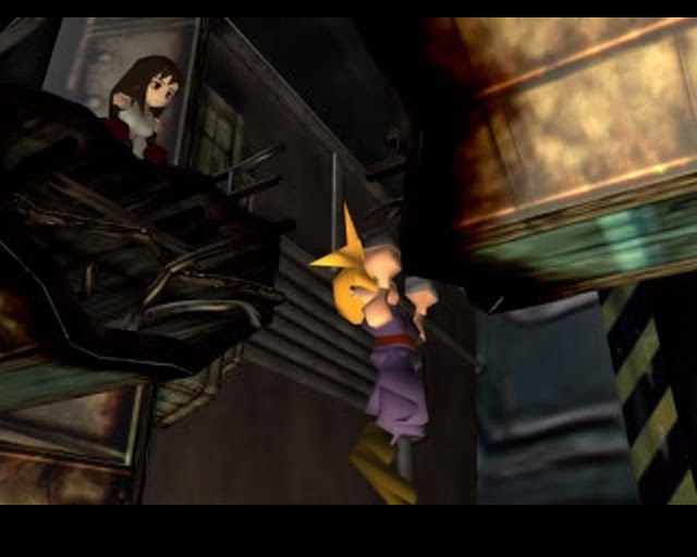 Final Fantasy VII Screenshot Cloud hanging