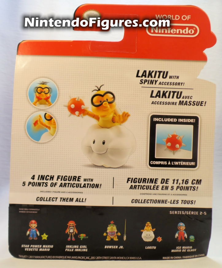 "Lakitu World of Nintendo 4"" Inch Figure Box Back"