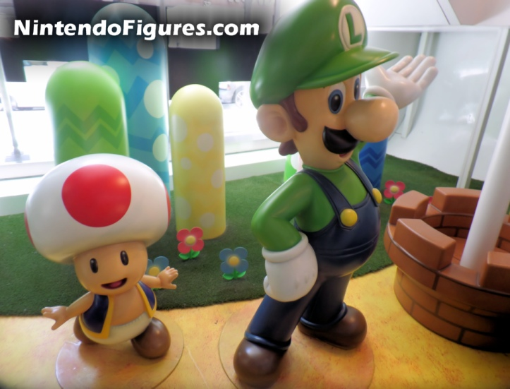 Nintendo New York Luigi and Toad Figure