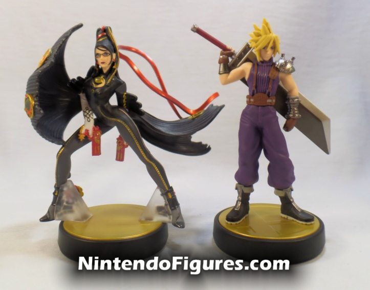 Bayonetta Player Two Super Smash Bros Amiibo With Cloud