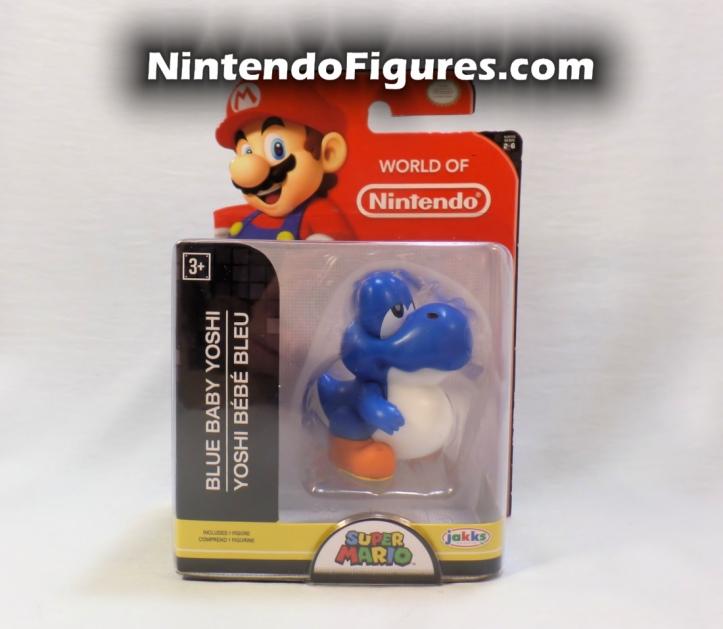 "Baby Blue Yoshi World of Nintendo 2.5"" Figure Box Front"