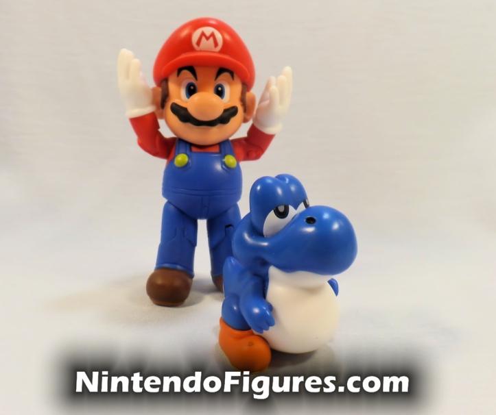 "Baby Blue Yoshi World of Nintendo 2.5"" Figure with Mario"