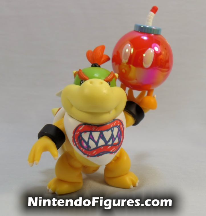 "Red Bob-omb World of Nintendo 2.5"" Inch Figure with Bowser Jr."