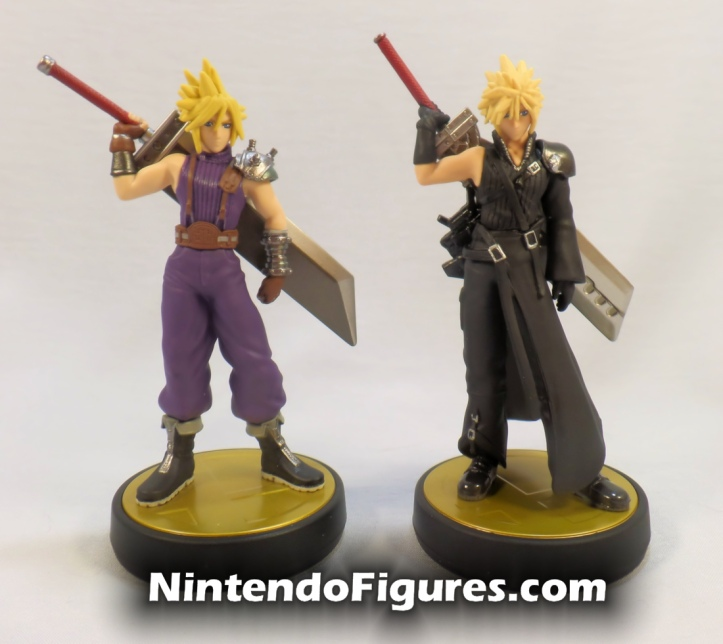 Cloud Strife Player Two Amiibo Super Smash Brothers Final Fantasy 7 with Player Two Comparison