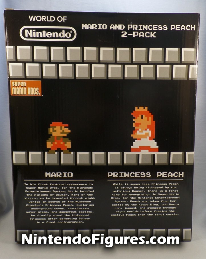 Mario and Princess Peach 2 Pack World of Nintendo Comic Con Exclusive Box Back