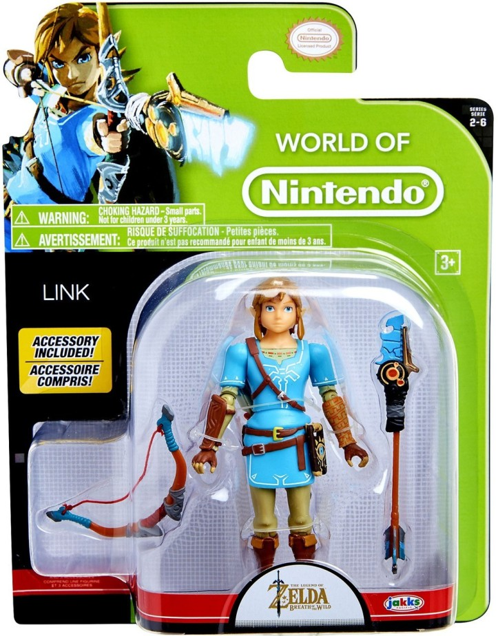 "Breath of the Wild Link 4"" Inch Figure World of Nintendo"