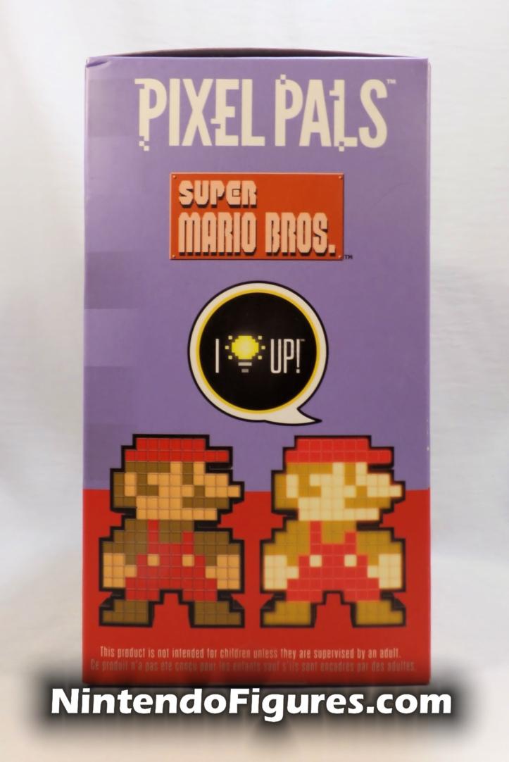 Mario Pixel Pals PDP Super Mario Brothers Box Side Nintendo Retro 8-Bit