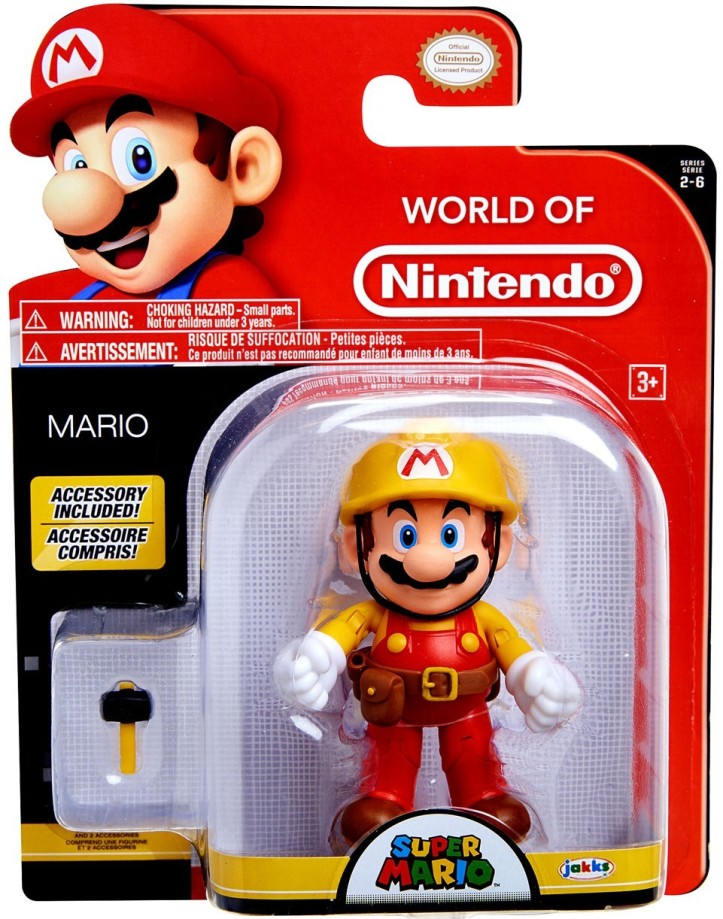 "Mario Super Mario Maker 4"" Inch Figure World of Nintendo"