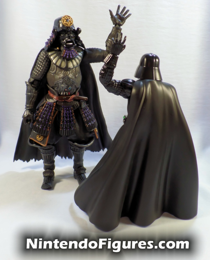 Darth Vader Samurai Taisho Move Realization Star Wars Bandai Tamashii Nations with S.H. Figuarts Vader High-Five