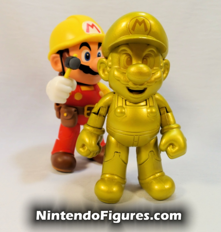 "Mario Super Mario Maker World of Nintendo 4"" Figure with Gold Mario"