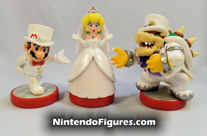 Mario Princess Peach Bowser Super Mario Odyssey Amiibo Display Nintendo